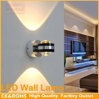 Wholesale Fashionable home furnishing LED Wall lights W AC85 V wall spotlights white warm white red blue green yellow colors for indoor Lighting