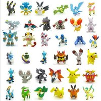 Wholesale of Poke Figures Toys cm Pikachu Charizard Eevee Bulbasaur Suicune PVC Mini Figure Toys For Children