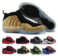 Men easter baskets - Top Quality Foamposites Authentic Basketball Shoes Sneakers Mens White Man One Pro Sports Shoe Gold Black Pearl Penny Hardaway Size