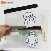 pencil holder - Creative Stationery Pen Bag Cute Big Hero Baymax Pen Bag Case Holder Storage Pencilcase School Supplies