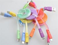 apple iphone manufacturer - USB smiley transmission line LED light data line i Universal intelligent optical charging cable manufacturers