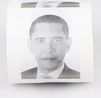 Wholesale Hillary Clinton Donald Trump Barack Obama Toilet Paper Novelty Funny Toilet Paper Gag Gift
