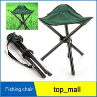 Wholesale New Folding Outdoor Camping Hiking Fishing Picnic Garden BBQ Stool Tripod Chair Seats With Leg Stool