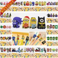 Wholesale EMS or DHL Novelty school stationary Minions Princess Avenger pencil topper safety pencil accessory kids party gift