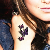 Wholesale Amazing d Butterfly Flash Tattoo Sticker Temporary Body Art cm Waterproof Henna Tatoo Summer Style Tatto Adult Sex Product