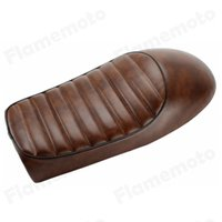 Wholesale motorcycle Brown Hump Custom Cafe Racer Seat Vintage Saddle For Honda CB100 CB350 CB450 CB500T CB750 CL360 GN