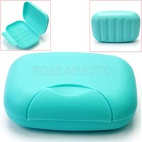 Wholesale Plastic Soap Case Holder Container Box Home Outdoor Hiking Camping Travel Blue