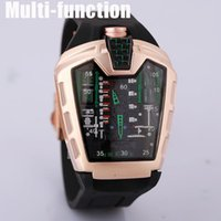 batteries center - The latest version of the silicone strap sports brand military center clock calendar reloje man watches the freedom of man s leisure