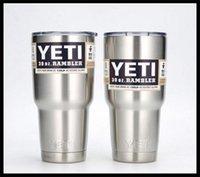 Wholesale Hot OZ YETI Rambler Tumbler Cups Stainless Steel Insulation Cars Beer Yeti Mug Coolers Large Capacity Mug Tumblerful