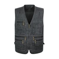Wholesale 2016 Summer casual men vest sleeveless jacket Male Plus Size Vest Men Multi Pocket vest men deporte photography vest XL XL