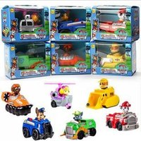 action truck - 6pcs set patrol car vehicle PVC Action figure anime toy Paw Truck Figure Dolls Mode Toys Best Gifts for Kids