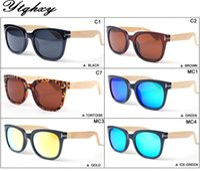 bamboo wood shades - New Men Women Brand Designer Bamboo foot Retro Bamboo Wood Sunglasses Sport Goggles Sun Glasses UV400 Shades lunette L