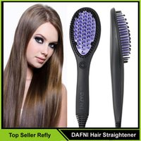 Wholesale DAFNI Hair Straightener Brush Comb Hair Straightening Irons Electric Dafni Hair Brush Straight Hair Styling Tool VS Hair Curler