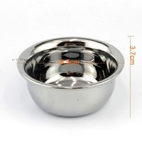 Wholesale NEW cm Silver Stainless Steel Shaving Bowl Barber Beard Razor Cup For Shave Brush Male Face Cleaning Soap Mug Tool Set