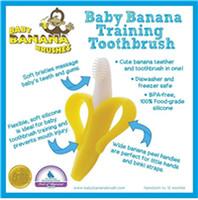Wholesale Banana Teether BABY BANANA Chewable Bendable Teether Training Toothbrush Brush For Infants Baby Teeth Stick Device Toothbrush