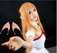 achat en gros de art en ligne sao asuna cosplay-TOP Selling Japanese Anime SAO Sword Art en ligne ALfheim Online Asuna Yuuki / Kirito / Leafa Cosplay Elf Ore