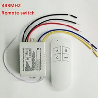 Wholesale HZ channels switch AC V ON OFF Ways Wireless Lamp Digital Remote Control Switch High Quality WALL Switch for led