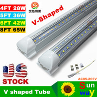 Wholesale 4ft ft ft ft led tube V Shaped Led T8 Tubes Light Integrated Cooler Door Lights Tubes Lamp For Freezer Lighting AC V