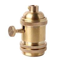 antique brass sockets - Vintage Retro Antique Style Edison E26 E27 Brass Solid Durable Light Knob Keyed Holder Socket Decor