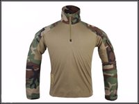 Wholesale Brand new high quality full sleeve tactical hunting clothing airsoft camouflage suit Military enthusiasts paintball equipment shirt