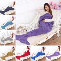 Wholesale Adult Mermaid Tail Blankets Mermaid Tail Sleeping Bags Mermaid Cocoon Mattress Mermaid Blankets Knit Sofa Handmade Sleeping Bag X95 D183