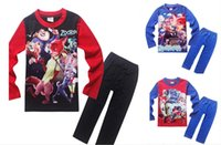 Wholesale ZOOTOPIA years children s cartoon tracksuit children s sleepwear long sleeve pants baby suit in stock set A20