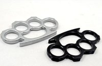 Wholesale 20pcs Thin Steel Brass knuckle dusters Self Defense Personal Security Women s and Men s self defense Pendant