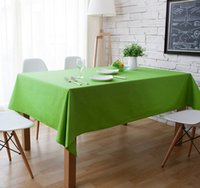 Wholesale Home green square tablecloth multi size rectangle tablecloths solid color dust covered table cloths multi color table cloth
