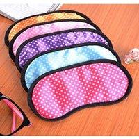 Wholesale Unisex Small Dots Sleeping Eye Mask Anti Snoring Blindfold Travel Eye Sleep Fit Sleep Eye Shade Cotton Cover Sleeping Eye Mask