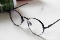 Wholesale Koreawide brimmed restoring ancient ways round glass frame flat lens can match the myopia frames for men and women