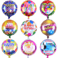 Wholesale Hot Happy Birthday Party Balloons Children Birthday Party Decoration Balloons inch Round Foil Balloons Inflatable Balloons