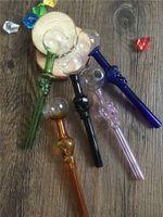 alien skulls - Skull Design Straight Glass Smoking Pipe Oil Concentrate Pipe Hand Pipes Oil Burner Glass Bong Oil Rig Alien Pipe Tobacco Pipe