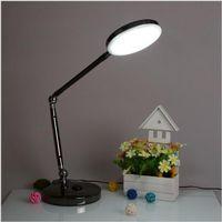 Wholesale Super bright AC100 V Rotatable Flexible W LED Desk Light Lamp Foldable with Touch Switch Adjustable Brightness AU EU UK US Plug