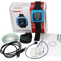 Wholesale FDA CMS50F Color Wrist Pulse Oximeter Finger Tip SPO2 Pulse Monitor PC Software oxygen saturation monitor Oximetro