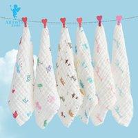 Wholesale towel baby wash cloth infant baby feeding towel handkerchief Gauze Handkerchief Baby Bibs Layers Of Cotton Towel