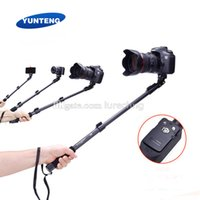 Wholesale Selfie Stick Detachable bluetooth remote shutter Yunteng YT Aluminum alloy Portable Extendable Handheld Camera Tripods Monopod Adapter