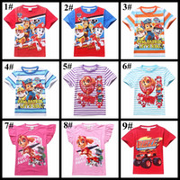 Wholesale 53 styles Short sleeve children T shirt boys girls summer tshirt tops clothes Jurassic World batman paw ice age bird Superwings Superman tee