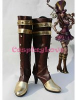 american custom shoes - Custom Made American Game LOL Caitlyn the Sheriff of Piltover Cosplay Shoes Boots For Christmas Halloween Festival