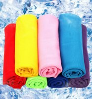 Wholesale 35 cm Breathable Cooling Towel Summer Sports Ice Washcloth Hiking Camping Workout Cold Towel For Men Women Children
