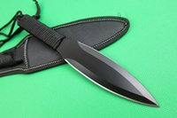 bats factory direct - Factory direct Brown A047 Survival Fixed blade knife Cr17 HRC blade knife Bat Outdoor Camping hiking hunting survival dart knives