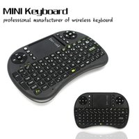 Wholesale Hebrew English Russian language G Rii i8 keyboard wireless mini Touch pad mouse Combo for Tv box tablet mini pc ps3