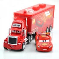 Wholesale Kostenloser Versand Pixar Cars Mack Lkw schlepper kleinwagen rot Spielzeug auto Metalldruckguss auto spielzeug Lose Auf Lager