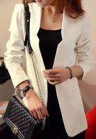 Wholesale New Summer Autumn Women Ladies Slim Small Suit Stand Collar Jacket Blazer Long Sleeve Coat Top
