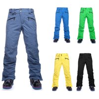 Wholesale Winter snowboard pants for men thicken male ski pants mens snow trousers thermal waterpfoof esqui skiing pantalones hombre
