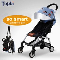baby wagons - TOPBI Original Poussette Travel Baby Stroller Wagon Portable Folding Baby Bys Lightweight Pram Children Pushchair for Months Kids