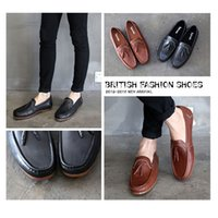 best flats boats - Slip On Spring Boat Shoes Best Full Grain Leather Mens Casual Loafers Spring Autumn Comfortable Flat Driving Shoes