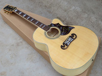 Wholesale On Sale High Quality Cutaway quot Nature Burlywood Spruce Top J200 Maple Sides Back Acoustic Guitar China Custom Factory