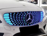 benz grille - For Mercedes Benz C Series W205 C180 C200 C260 GLA200 GLA260 Chromed Luxury LED Lights Fantasy Fluorescent Starry Front Grille