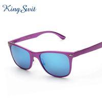 aluminium designer - KingSwit Fashion Rectangle Sunglasses Men Brand Designer Polarized Sun Glasses Aluminium Magnesium Material Eyewear KS232