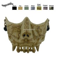Wholesale Desert Corps Mask Outdoor Face Protection Gear Airsoft Shooting Equipment Half Face Tactical Airsoft Skull Mask